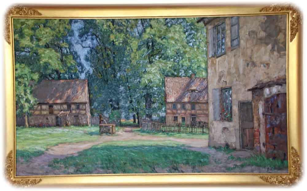 Otto Altenkirch: Sommertag im Hellergut, Juni 1923, Ölfarbe auf Leinwand, Repro: Heiko Weckbrodt