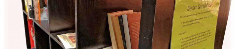 Die Blasewitzer Beiräte wollen mit ihrem Budget unter anderem Tauschschränke im Stadtbezirk kofinanzieren, wenn sich dafür Betreiber finden. Das Konzept: Wer etwas aus dem Schank haben will, muss auch etwas hineinlegen. Das funktioniert vielerorts bereits mit Büchern - hier ein Tauschregal der Kirchgemeinde Gruna-Seidnitz im Seidnitz-Center. Foto: Heiko Weckbrodt