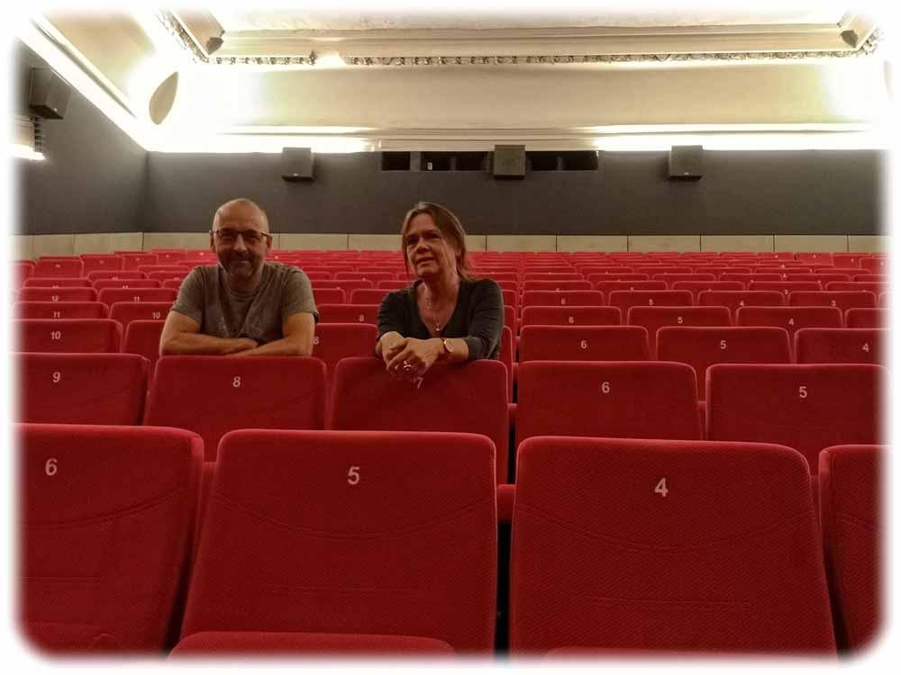 Sven Weser und Jana Engelmann leiten das Programmkino Ost seit der Wende. Foto: Heiko Weckbrodt