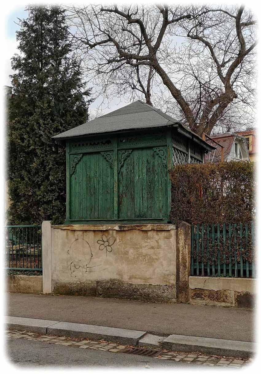 Pavillon an der Sickingenstraße in Dresden-Striesen. Foto: Ralf Dießelmann