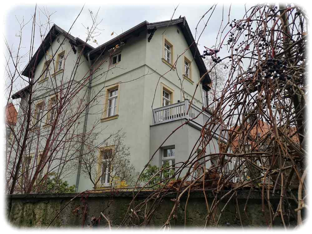 Im Haus Sommerstraße 7, heute Sebastian-Bach-Straße 22, in Dresden-Blasewitz lebte Karl May vom April 1883 bis zum Frühjahr 1884. Foto: Heiko Weckbrodt