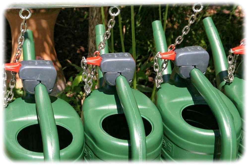 Pfandgiesskannen mit dem Kommutech-System. Foto: Kommutech