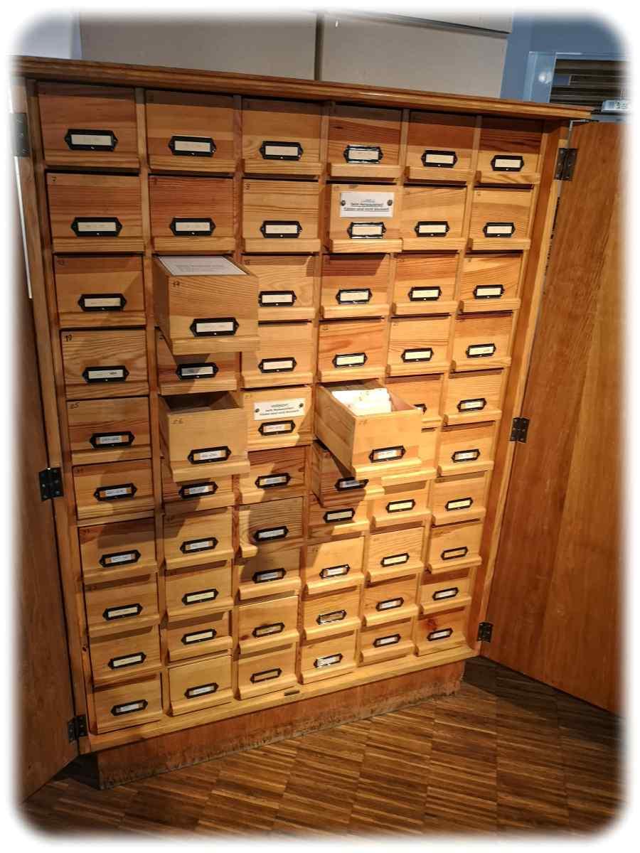 Der Registraturschrank gilt als ein Inbegriff von Behörden, Archiven und Bibliotheken alten Sils. Foto: Heiko Weckbrodt