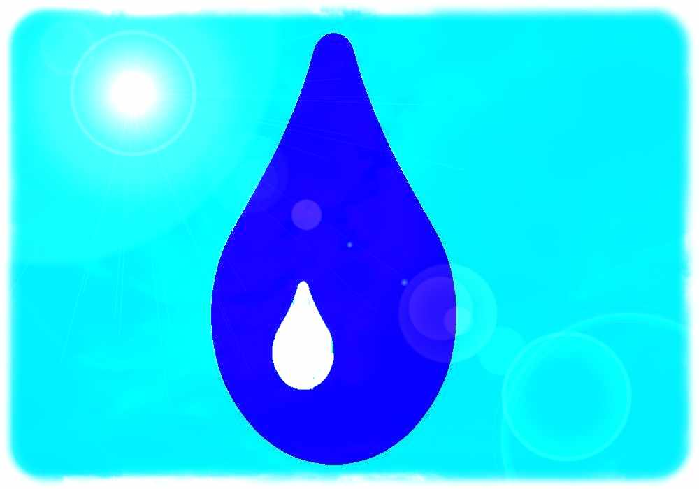 Wassertropfen. Grafik: hw